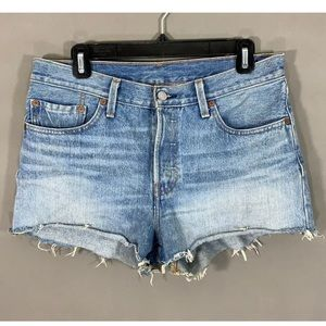 Levi's 501 Jean Shorts Cutoffs Button Fly W 30